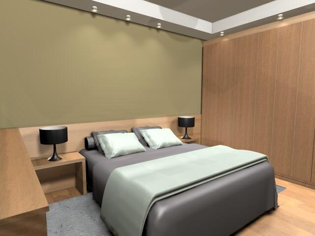 Hálószoba terve egyedi mennyezeti világítással